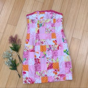 Lilly Pulitzer pink patchwork strapless dress, 4.